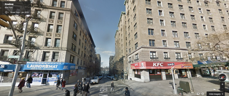 Actual Google Street view of 150th & Broadway in NYC. What's up Harlem.